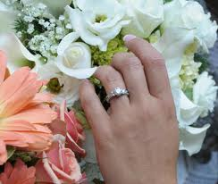 wedding hand flowers